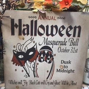 🎃 NEW Halloween Sign Masquerade Mask Handcrafted